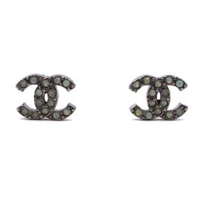 Cc Crystals Pierced Stud Earrings